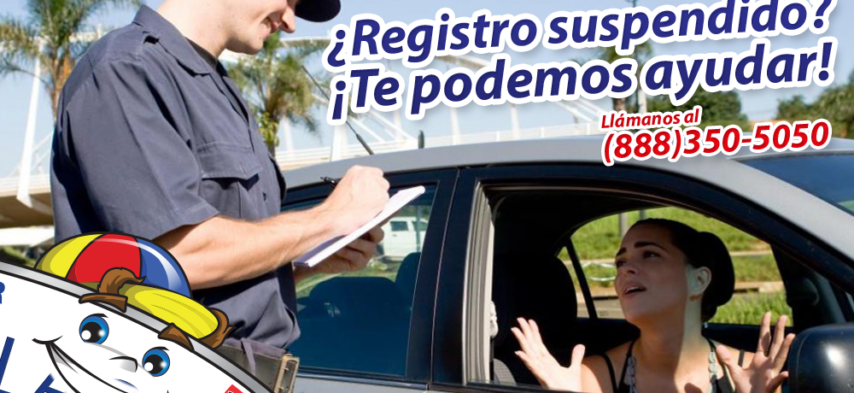 Registro suspendido