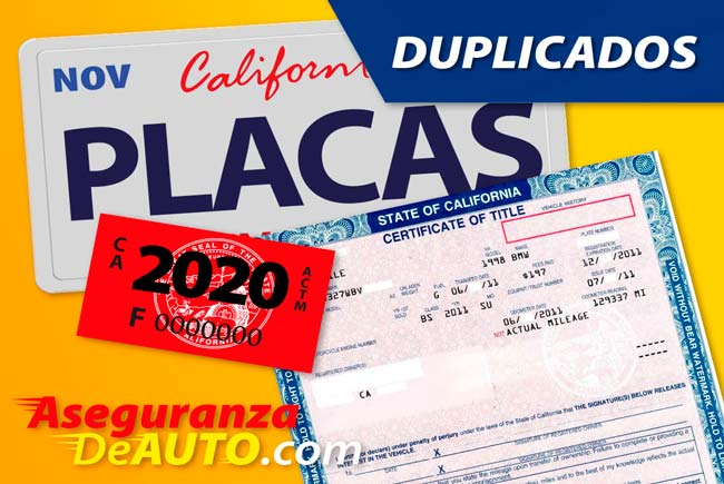 Duplicado de Placas. Replacement Plates. DMV Service.