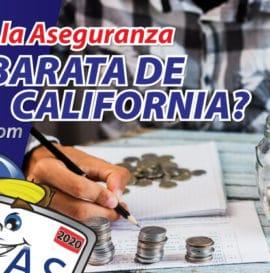 ¿Cuál es la aseguranza más barata en California?