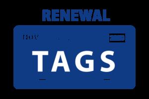 TAGS RENEWAL DMV REGISTRATION TAGS