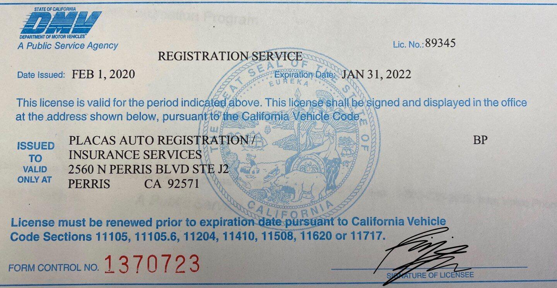 dmv registration services license